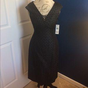 Evan Picone Little Black Sparkle Cocktail Dress
